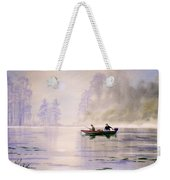 Misty Sunrise On The Lake Weekender Tote Bag