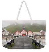 Misty View Of Victorian Pier  Redcar Weekender Tote Bag