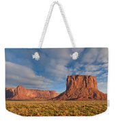 Mitchell Butte And Gray Whiskers In The Evening Light Weekender Tote Bag
