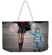 Mittens Attached Weekender Tote Bag