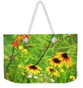 Mixed Flowers Bloom In A Garden Weekender Tote Bag