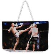 Mixed Martial Arts - A Kick To The Head Weekender Tote Bag