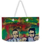 Mlk Fatherhood 1  Weekender Tote Bag