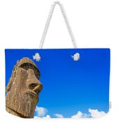 Moai And Blue Sky Weekender Tote Bag