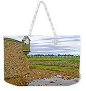 Moat And Wall Around Fortress In Louisbourg Living History Museum-ns Weekender Tote Bag