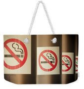 Mobile Photography Toned Row Of No Smoking Signs Weekender Tote Bag