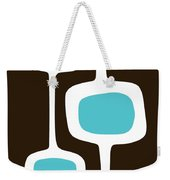 Mod Pod Three White On Brown Weekender Tote Bag
