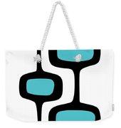 Mod Pod Two Black On White Weekender Tote Bag
