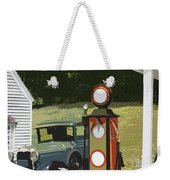 Model A Ford And Old Gas Station Illustration  Weekender Tote Bag