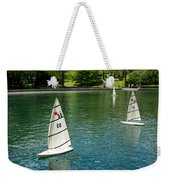 Model Boats On Conservatory Water Central Park Weekender Tote Bag