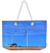 Modern Agriculture And Wind Turbines Weekender Tote Bag