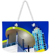 Modern Architecture With Blue Sky Weekender Tote Bag