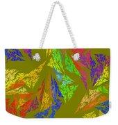 Modern Art Abstract Fractal Green Background Weekender Tote Bag