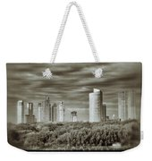 Modern Buenos Aires Black And White Weekender Tote Bag