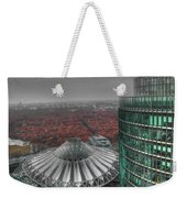 Modern Building With Autumn Forest Weekender Tote Bag