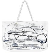 Modern Drawing Seventy-six Weekender Tote Bag
