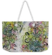 Modern Spring Blossom Art Painting Flower Butterfly Art Acrylic Ink Rice Paper Green Yellow Pink Sjk Weekender Tote Bag