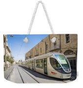 Modern Tram In Jerusalem Israel Weekender Tote Bag