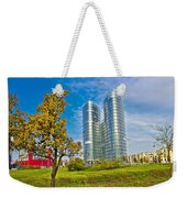 Modern Twin Tower In City Of Zagreb Weekender Tote Bag
