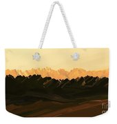 Mohave Desert Mountains Weekender Tote Bag