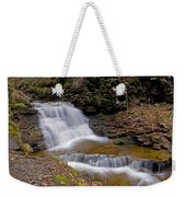 Mohican Falls In Spring Weekender Tote Bag