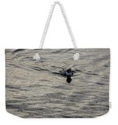 Moire Silk Water And A Long Tailed Duck Weekender Tote Bag