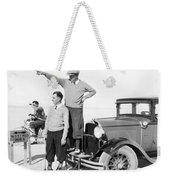 Mojave Desert Golf Course Weekender Tote Bag
