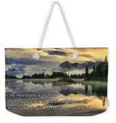 Molas Lake Sunrise With Scripture Weekender Tote Bag