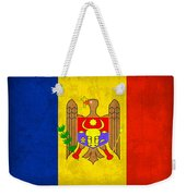 Moldova Flag Vintage Distressed Finish Weekender Tote Bag