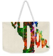 Moldova Typographic Watercolor Map Weekender Tote Bag