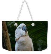 Moluccan Cockatoo Weekender Tote Bag