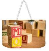 Mom Alphabet Blocks Weekender Tote Bag