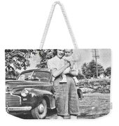 Mom Child And Car Weekender Tote Bag