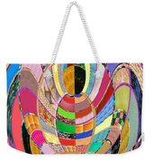Mom Hugs Baby Crystal Stone Collage Layered In Small And Medium Sizes Variety Of Shades And Tones Fr Weekender Tote Bag