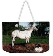 Mom Watches Over Weekender Tote Bag