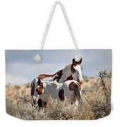 Momma And Baby In The Wild Weekender Tote Bag