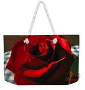 Mom's Red Rose Happy Birthday Wife Weekender Tote Bag