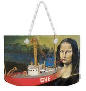 Mona Lisa Unfinished Weekender Tote Bag