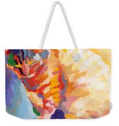 Mona Lisa's Rainbow Weekender Tote Bag