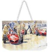 Monaco Gp 1961 Ferrari 156 Sharknose  Weekender Tote Bag