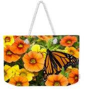 Monarch Among The Flowers Weekender Tote Bag
