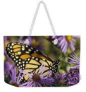 Monarch And Asters Weekender Tote Bag