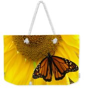 Monarch And Sunflower Weekender Tote Bag