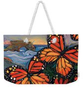 Monarch Butterflies At Natural Bridges Weekender Tote Bag by Jen Norton