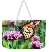 Monarch Butterfly On Pink Lantana Weekender Tote Bag