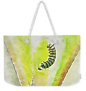 Monarch Caterpillar - Digital Watercolor Weekender Tote Bag