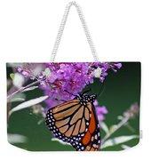 Monarch On Butterfly Bush Weekender Tote Bag