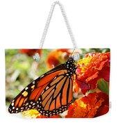 Monarch On Marigold Weekender Tote Bag
