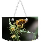 Monarch On Thistle Weekender Tote Bag