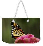 Monarch On Zinnia Weekender Tote Bag
